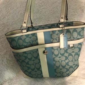 Blue coach signature purse